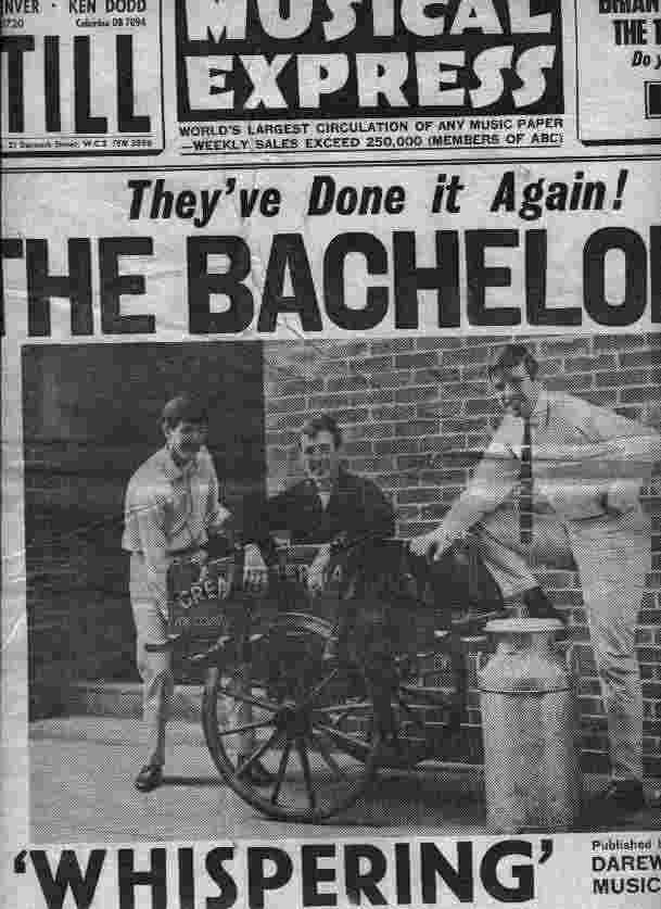 The front cover of the New Musical Express featuring 'The Bachelors'