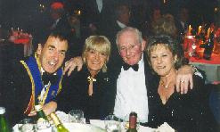 Jim Marshall, the 'Marshal Stack' man with Dec, Sandy and his lady, Pauline